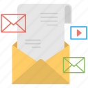 communication, mailing, posting, dispatch, lettering icon