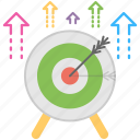 aim, goal, intention, plan, target icon