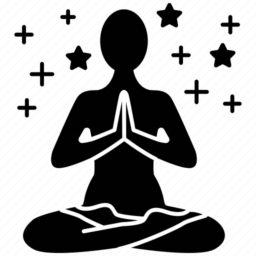 Consideration, meditation, mental concentration, relaxing, yoga icon - Download on Iconfinder