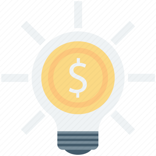 bulb, business idea, dollar, idea, innovation icon