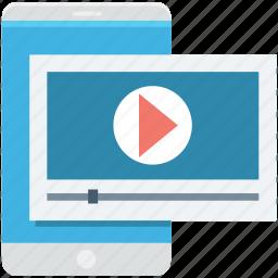 media player, mobile, mobile media, smartphone, video player icon