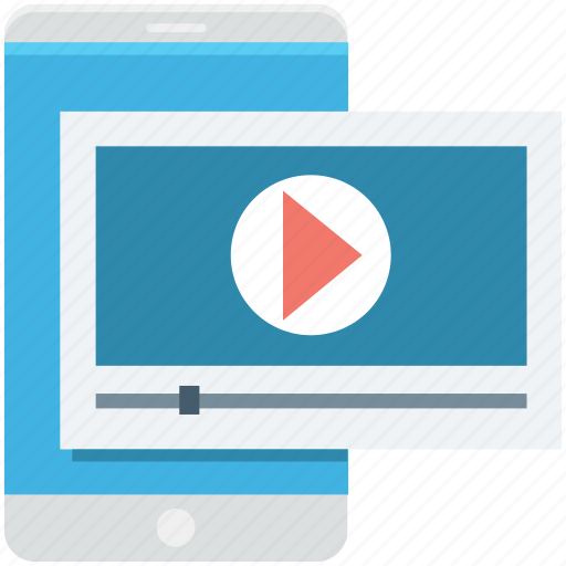media player, mobile, mobile media, smartphone, video player icon