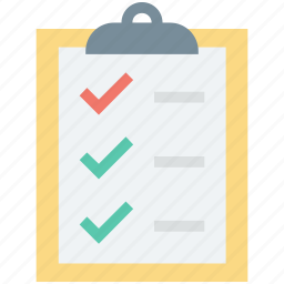checklist, checkmark list, clipboard, list, to do icon