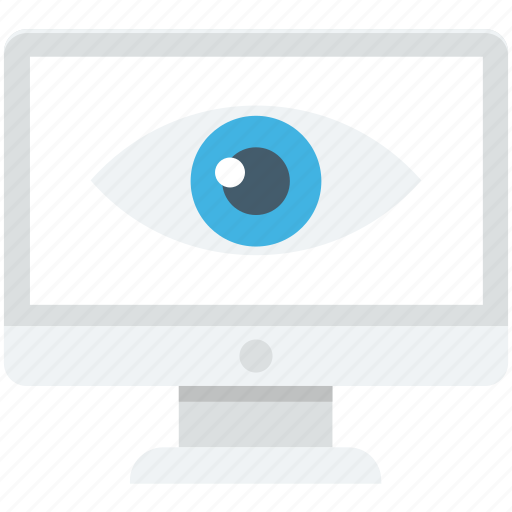 eye, monitor, monitoring, preview, seo icon