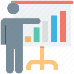 analysis, analytics, business chart, presentation, projection screen icon