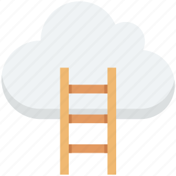 cloud computing, cloud traffic, data highway, internet traffic, ladder icon