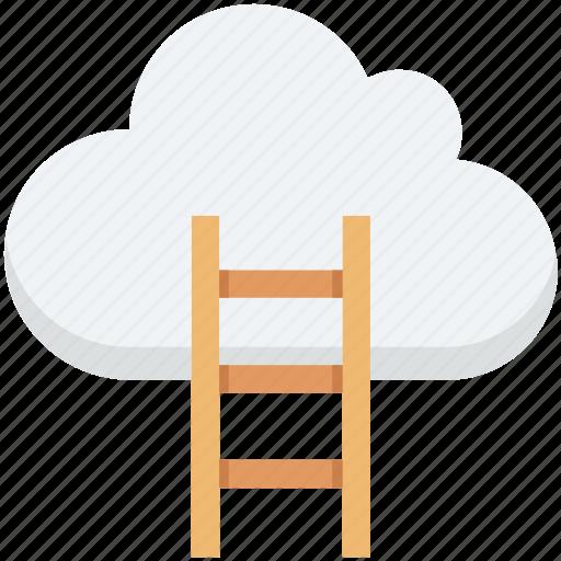 cloud computing, cloud traffic, data highway, internet traffic, ladder icon