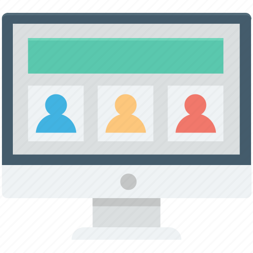 conference call, live chat, monitor, video call, video live icon