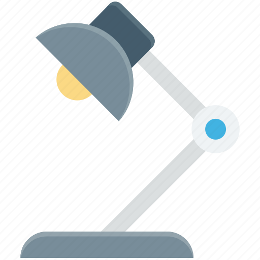 desk lamp, desk light, lamp, lamp light, table lamp icon