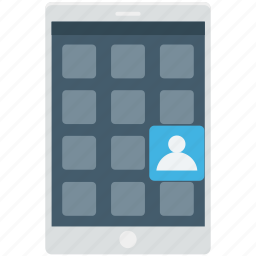 app design, app layout, mobile menu, mobile ui, mobile wireframe icon