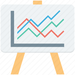 analytics, easel, graph presentation, presentation, statistics icon
