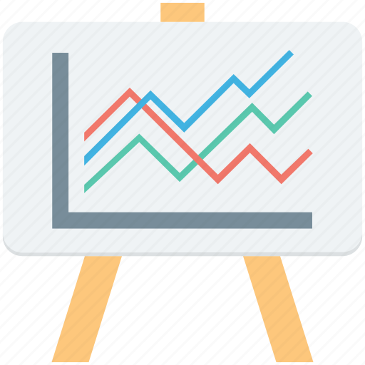 analytics, easel, graph presentation, presentation, statistics icon