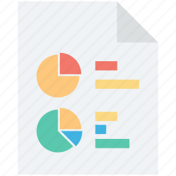 finance report, graph analysis, graph report, pie graph, sales report icon