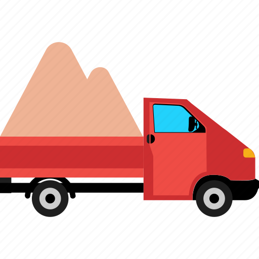 cab truck, cargo truck, delivery van, lorry, semi truck icon