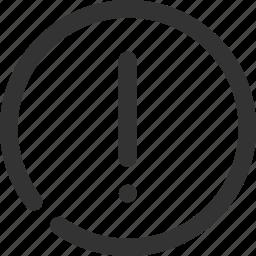 alarm, cancel, danger, error, problem, stop, warning icon