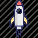 missile, rocket, spacecraft, spaceship