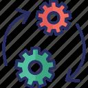 cogwheel around, automated solutions, automation, cogwheel, engineering
