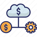 finance database, financial cloud, internet trade market, money technology