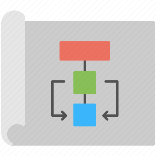 flowchart, site structure, sitemap, website map, wireframe icon