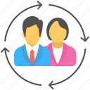human assets, human capital, human resources, staff resource, workforce icon