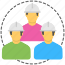 architects, builders, construction workers, constructions team, engineering team icon