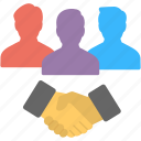 collaborative team, team building, team management, team relations, teamwork icon