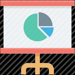 analytics, graph, graph presentation, pie chart, presentation icon