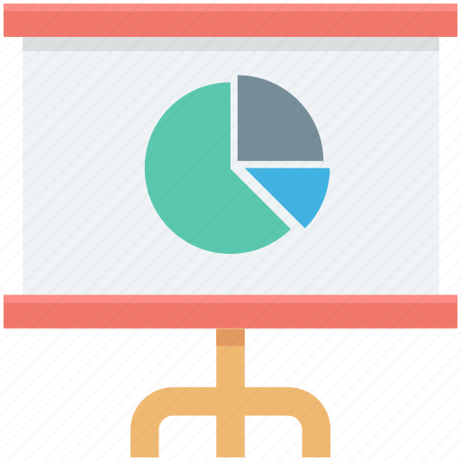 analytics, graph, graph presentation, pie chart, presentation icon