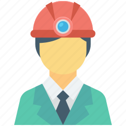 architect, miner, miner avatar, occupation, profession icon