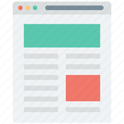 design template, web content, web layout, web page, web template icon