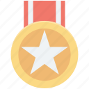 achievement, medal, prize, reward, star medal icon