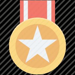 achievement, medal, prize, reward, star medal icon