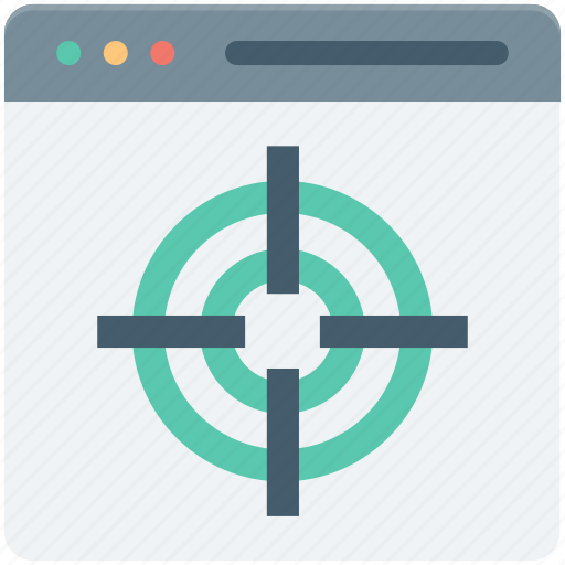crosshair, marketing, seo, web page, website icon