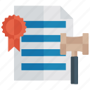 business document, court document, govt certificate, legal document, office document icon