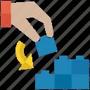 business concept, deduction, logic puzzle, problem solving, teamwork icon