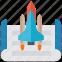 business launching, launching, rocket launching, space launching, space shuttle, startup icon