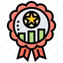 badge, competition, medal, reward, winner icon