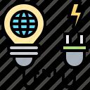 ambition, big, challenge, plug, think icon