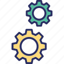 engineering, mechanism, mechanical, technology, gears icon