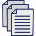 archive, data, documentation, documents, files icon