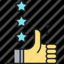 appreciations, rate, thumbs up