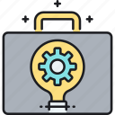 briefcase, business, idea, suitcase icon