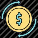 cash, cash flow, flow, income, money, profit icon