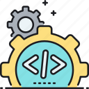 code, custom, custom coding, implementation, programming icon
