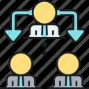 delegating, task icon