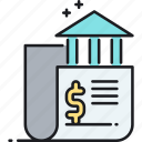 banking, data, financial, institute, institution icon