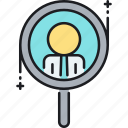 discover, find, hiring, search icon