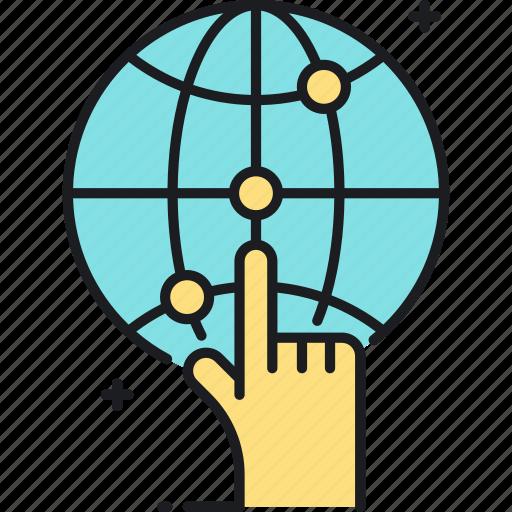 global, location, marketing, targeting, worldwide icon