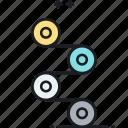 gear, lean, process, progress icon