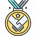 award, badge, medal, trophy icon